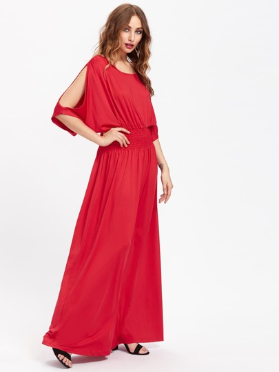 Split Sleeve Full Length Kaftan Dress