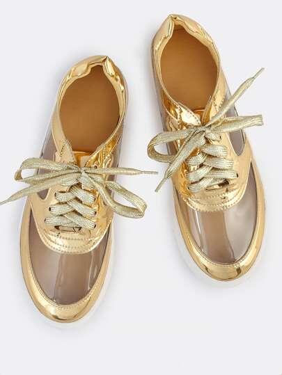Metallic Transparent Sneakers GOLD