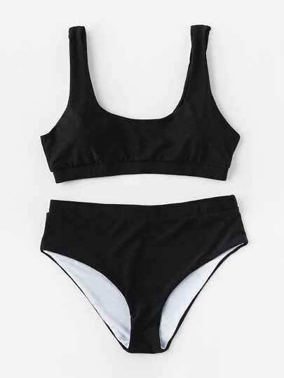 Set di bikini con scollo rotondo
