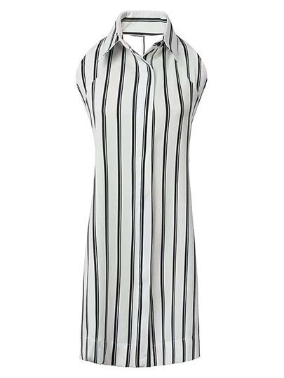 Vestito a strisce verticale con schiena scoperte