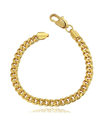 Plated Metal Chain Bracelet