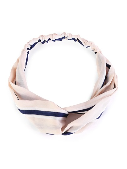 Striped Print Twist Headband