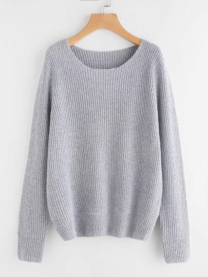 Marled Knit Loser Pullover