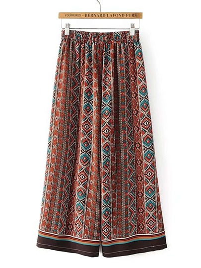 Tribal Print Culotte Pants