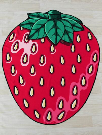 Strawberry Shaped Cute Beach Blanket