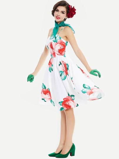 Random Florals Swing Dress