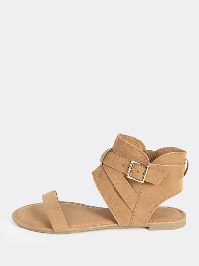 Hooded Open Band Sandal TAN