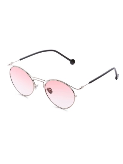 Double Frame Ombre Lens Sunglasses