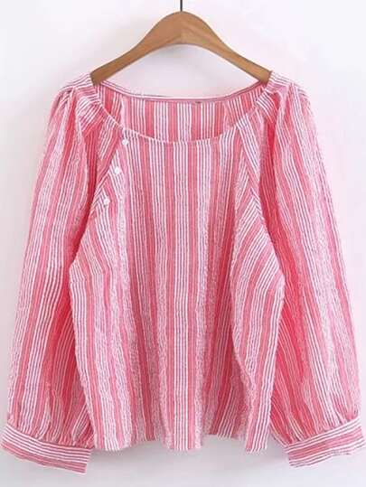 Vertical Striped Tunic Top