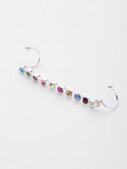 1 pieza de brazalete de oreja con diseño de pedrería