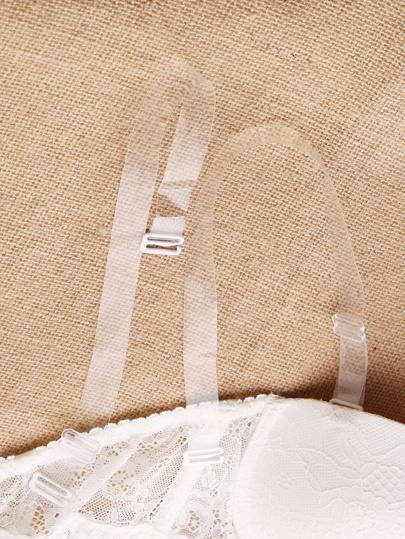 Bretelle réglable de soutien-gorge transparente invisible 1 paire