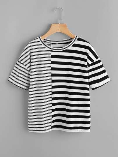Модная футболка в полоску