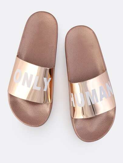 Only Human Metallic Slides ROSE GOLD