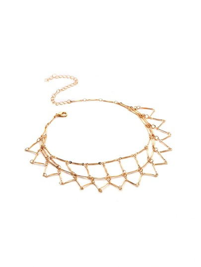 Geometric Shaped Handmade Chain Choker