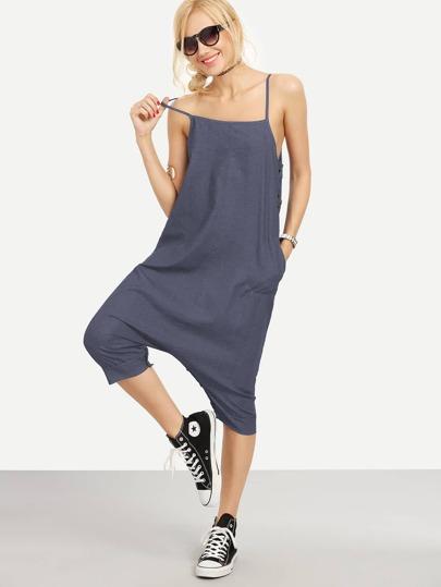 Jeans Jumpsuit mit Knöpfen