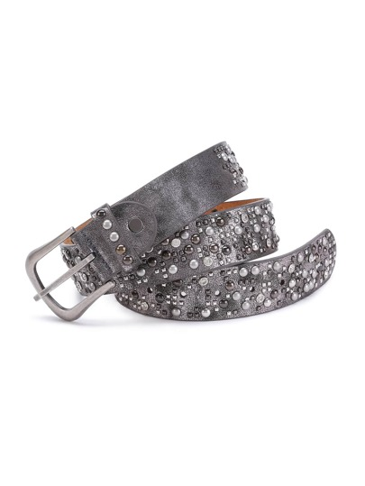 Studded Design Buckle Belt