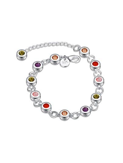 Crystal Detail Link Bracelet