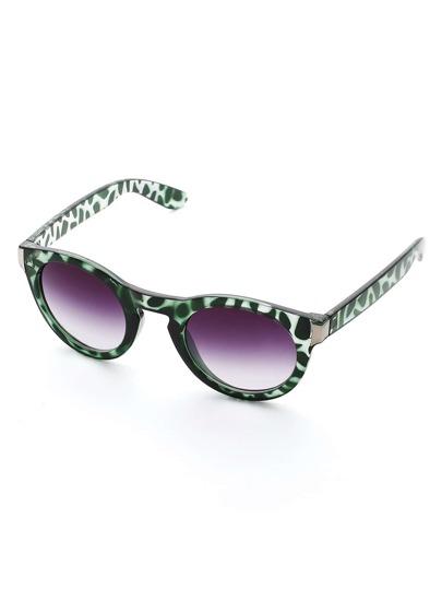 Contrast Frame Ombre Lens Sunglasses