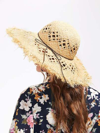 Straw Floppy Beach Hat