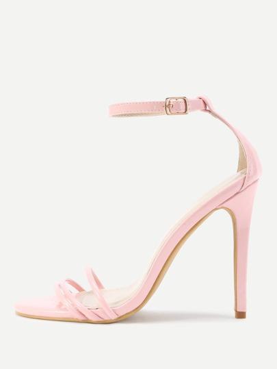 Two Part Stiletto High Heel Sandals