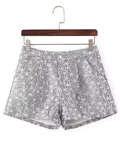 Allover Embroidered Shorts