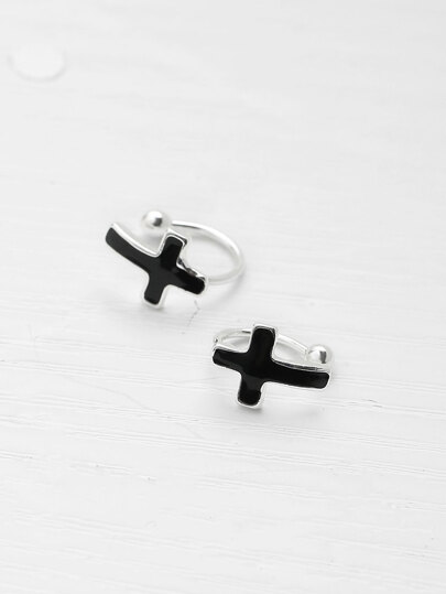 Cross Design Stud Earrings
