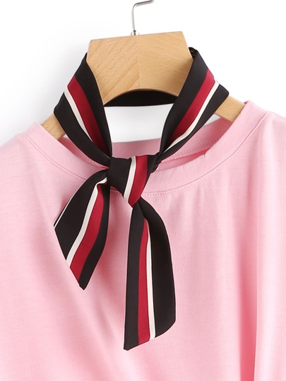 Block Striped Twilly Scarf