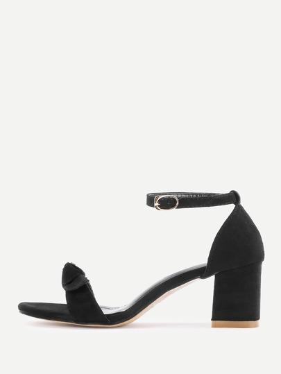Sandales à talons hauts avec nœud papillon