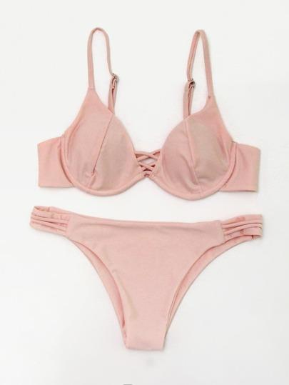 Ensemble de bikini croisé