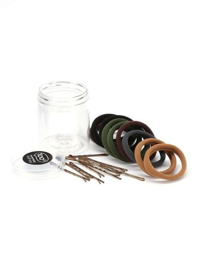 Hair Tie & Hair Pin Set