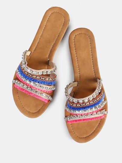 Multi Texture Sandal BEIGE