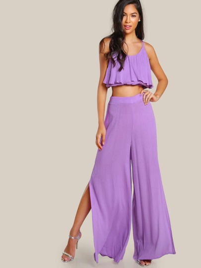 Trapeze Cami And Split Culotte Pants Set