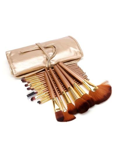 21 piezas de pincel de maquillaje profesional con bolsa de pu