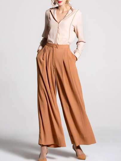 V Neck Shirt Top With Pockets Pants
