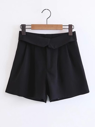Rolled Waist Loose Shorts