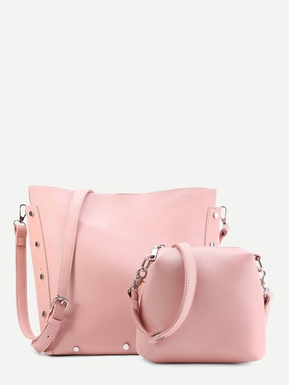 PU Bucket Bag With Clutch