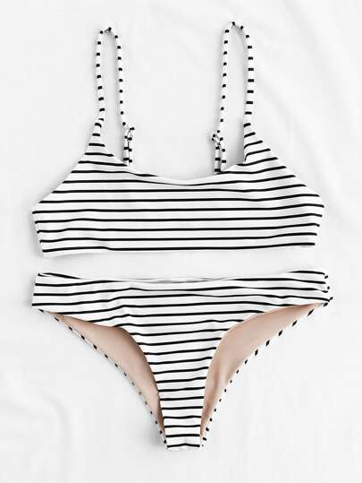 Striped Beach Bikini Set
