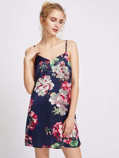 Vestido de tirantes finos con estampado floral