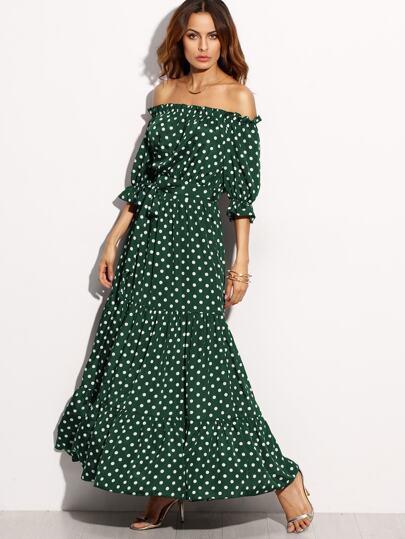 Multi color polka dots dresses