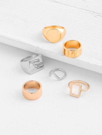 Multi Shaped Ring Set