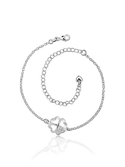 Clover Design Chain Anklet