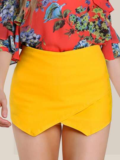 Flap Shorts YELLOW