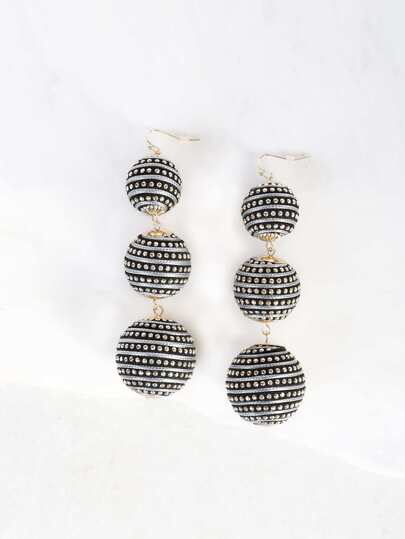 Oversized Bon Bon Earrings BLACK