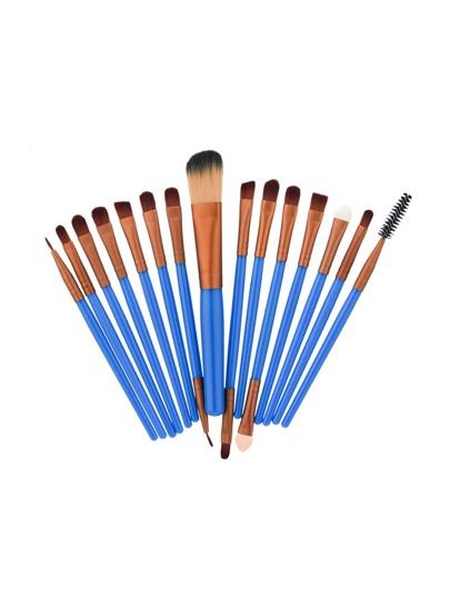 15 piezas de pincel para los ojos en dos tonos