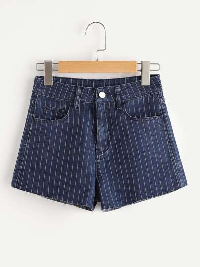 Shorts â rayures en denim
