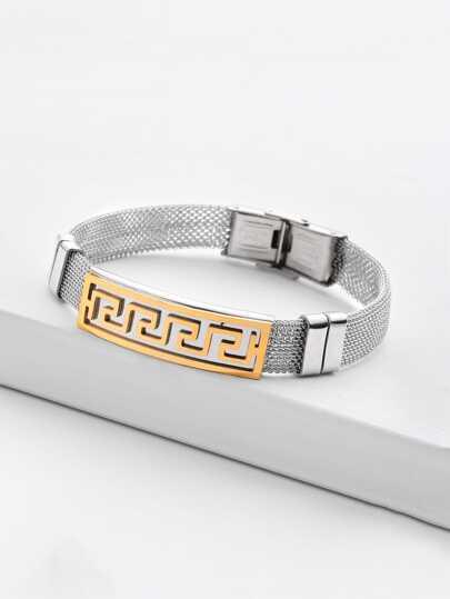 Bracelet avec détail de métal géométrique