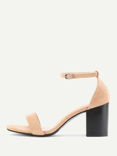 Sandales à talon avec deux bande
