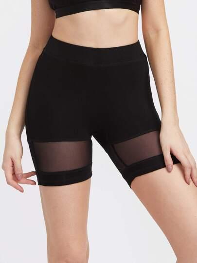 Shorts de malla con panel