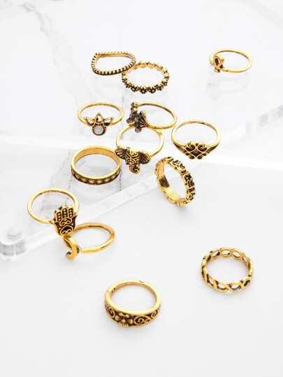 Set di anello 13 pezzi