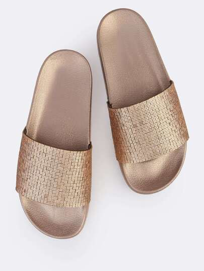 Bejeweled Slides ROSE GOLD